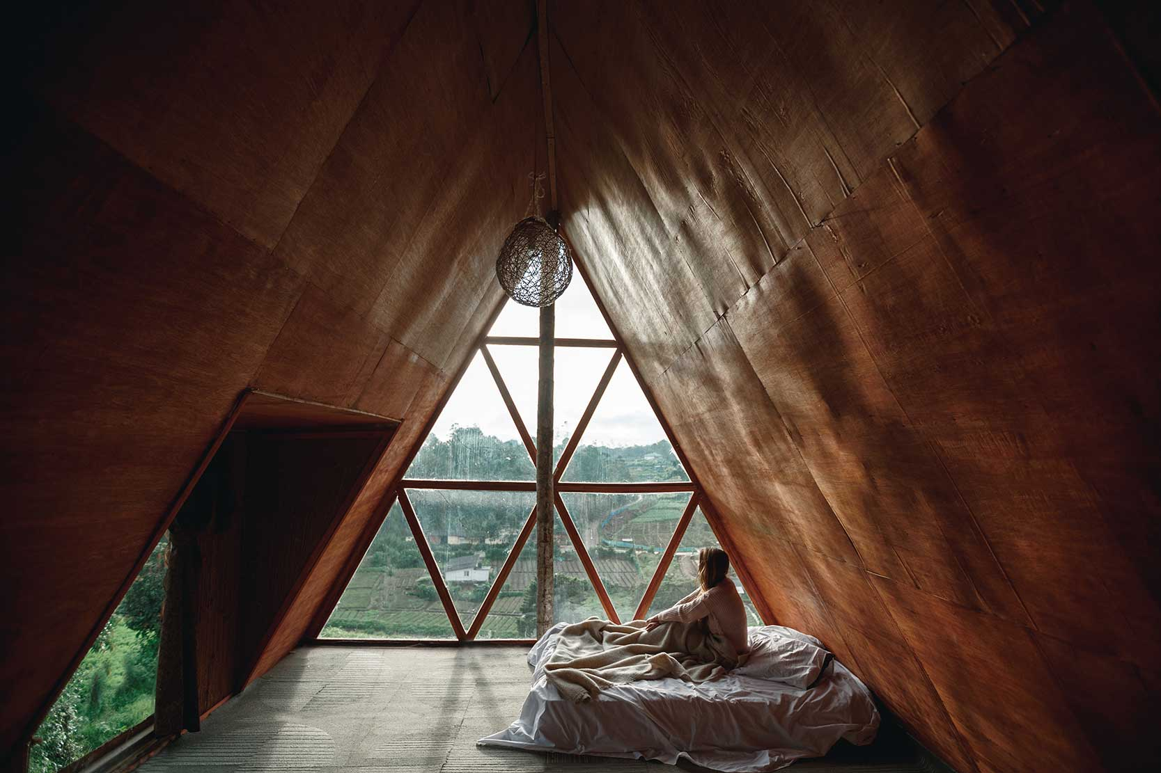 Waking up in the Wooden Cabin