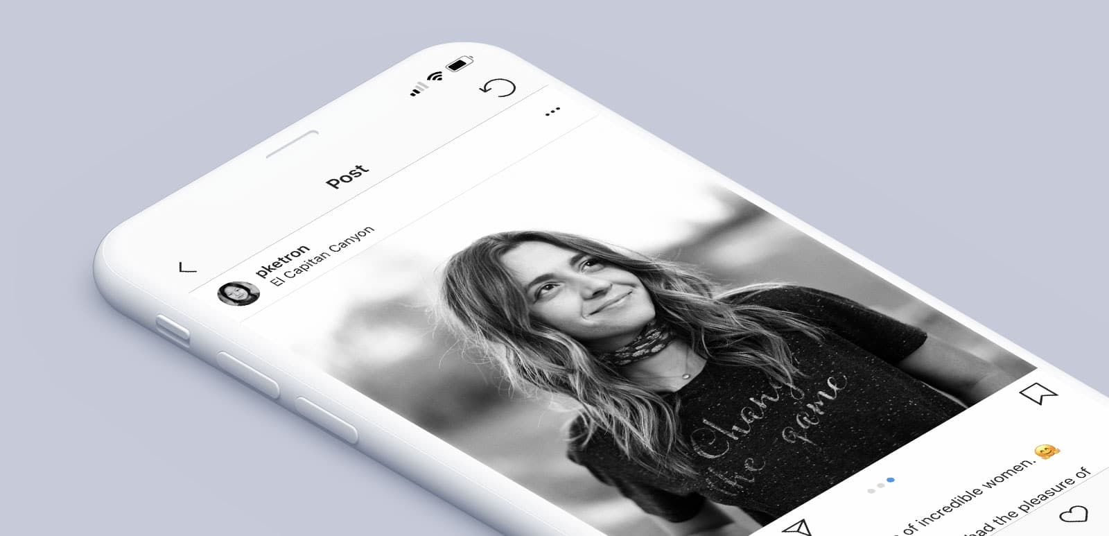Pei Ketron - Incredible Woman, Instagram Mockup