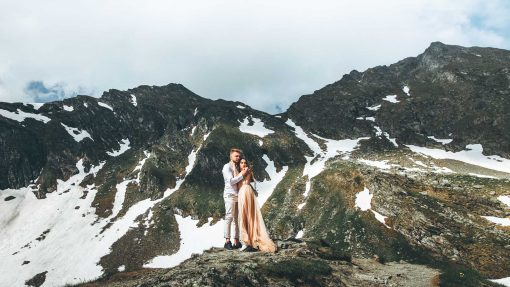 Lovely couple by the rocky mountain - Light and Airy Preset